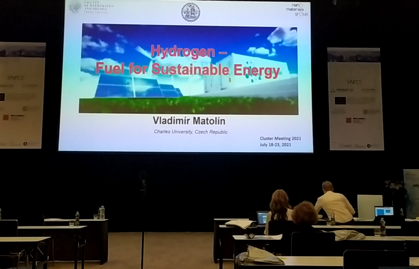 Professor Vladimír Matolín has an invited lecture at Cluster Meeting 2021